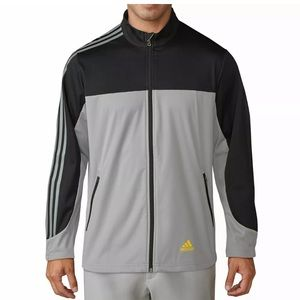 adidas Golf Competition Wind Jacket gray black new
